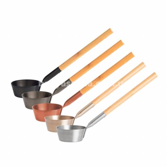 Лейка-ковш для бани алюминиевая с бамбуковой ручкой Rento Украина, купить в магазине