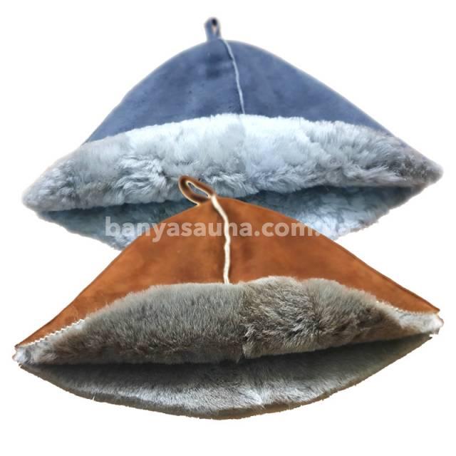 Натуральная меховая шапка для бани. Банная шапка из меха Украина